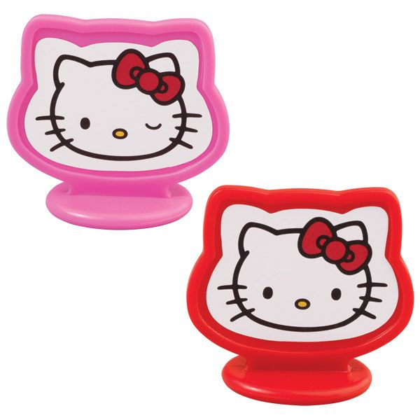 Wilton Hello Kitty Cupcake Cake Toppers Party 8pk