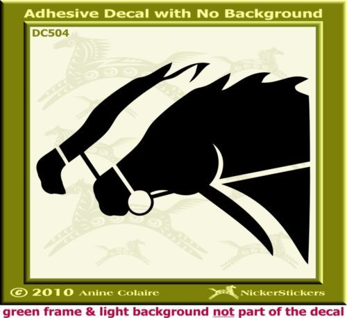 Thoroughbred Horse Racing Trailer Car Decal Sticker 468